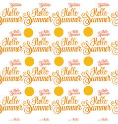 Hello summer sun shine seamless pattern vector