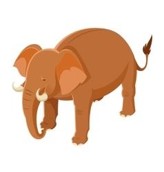 Isometric Brown Elephant vector image