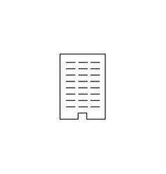 line office building icon vector image vector image