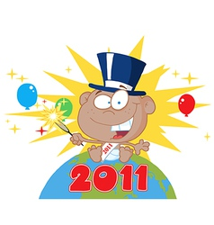 New years baby cartoon vector image