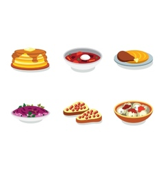 Russia food flat icon vector