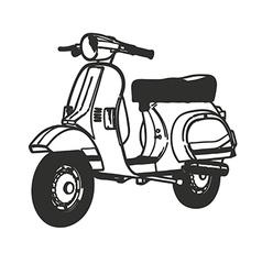 Scooter symbol mod lambretta vespa vector