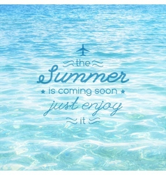 Summer is coming text vector