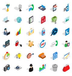 Web file icons set isometric style vector