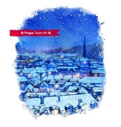 Winter Prague vector image vector image