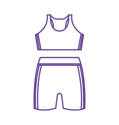 Femenine sport wear clothes vector