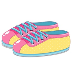Cute sneakers vector