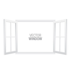 white window template vector image