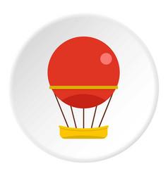 Aerial transportation icon circle vector