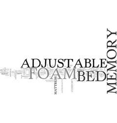 Adjustable bed memory foam old mattress will now vector