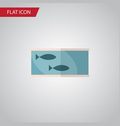 isolated canned fish flat icon tin tuna vector image