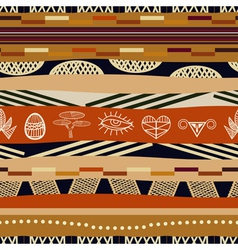 Seamless pattern with graphic elements Tribal styl vector image
