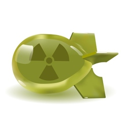 Atomic bomb icon vector