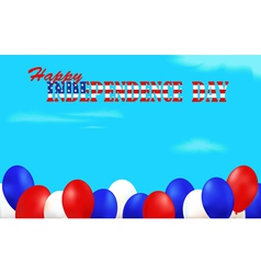 Independence Day background decorated with vector image