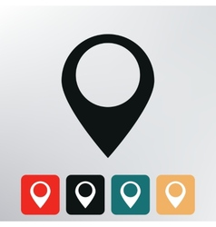 Map point icon vector