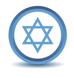 Blue judaism icon vector