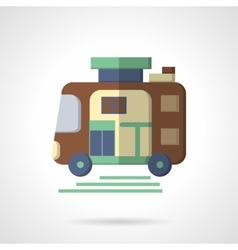 Trailer flat color icon vector