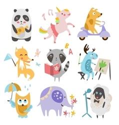 Cute Childish Animals Set vector image