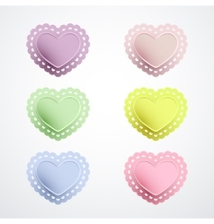 Lacy heart shapes collection vector