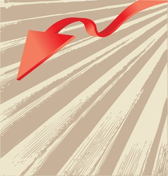 Abstract arrow design vector