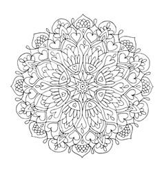 Mandala ornament hand made sketch for your design vector