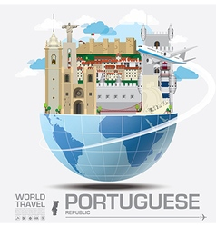 Portuguese landmark global travel and journey vector