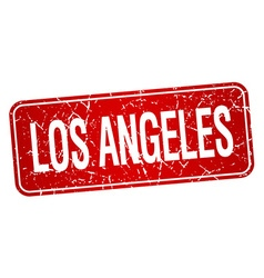 Los angeles red stamp isolated on white background vector