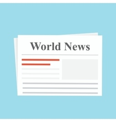 Newspaper world news the daily edition flat vector