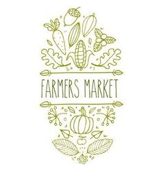 Farmers market sign vector