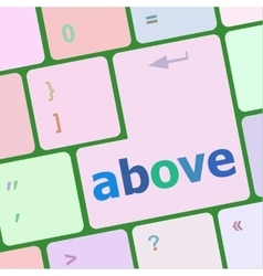 Above on computer keyboard key enter button vector