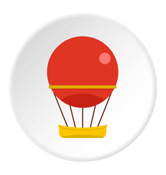 Aerial transportation icon circle vector