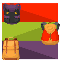 Back to school kids backpack banner vector
