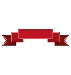 Banner ribbon red graphic vector