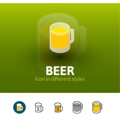 Beer icon in different style vector