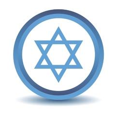 Blue judaism icon vector