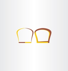 Brown and yellow bread logo vector