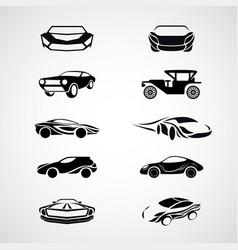 car logo icon set vector image vector image