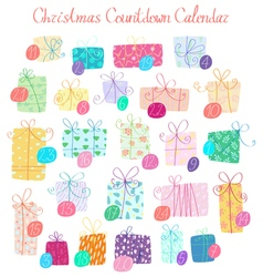 Christmas countdown calendar vector