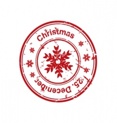 Christmas stamp vector image