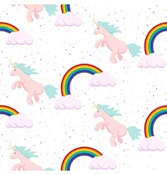 Cute unicorn child seamless pattern vector