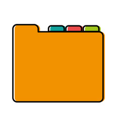 Document folders icon vector