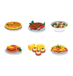 Italian food flat icon vector image vector image