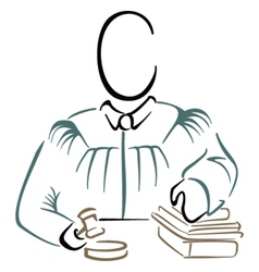 Justice symbol vector image vector image