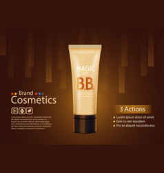 luxury skin toner bb cream or peeling scrub vector image vector image