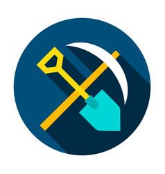 mining tools circle icon vector image