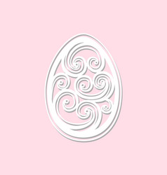 Openwork easter egg art laser cut easter egg vector