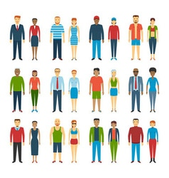 People Standing Set vector image