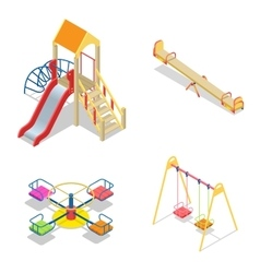 Playground Playground slide theme elements vector image