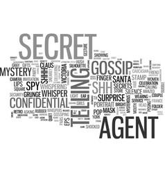 Secret word cloud concept vector