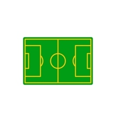 Soccer field icon flat style vector image